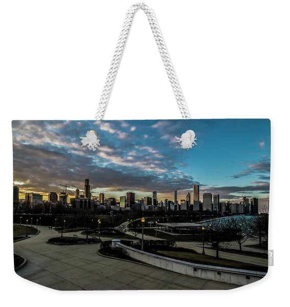 Chicago Skyline From The Museum Campus Weekender Tote Bag
