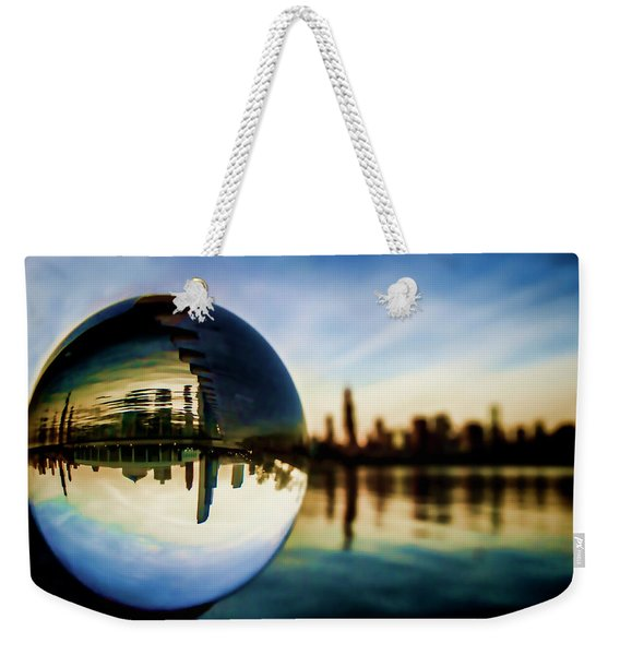 Chicago Skyline Though A Glass Ball Weekender Tote Bag