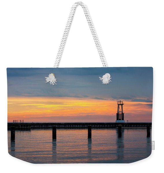 Chicago Sunrise At North Ave. Beach Weekender Tote Bag