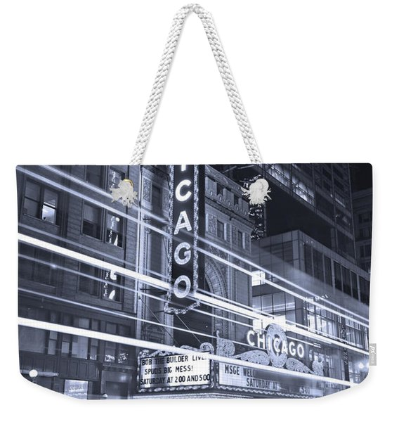 Chicago Theater Marquee B And W Weekender Tote Bag