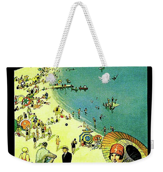 Chicago, Vacation City, Areal View On The Beach Weekender Tote Bag