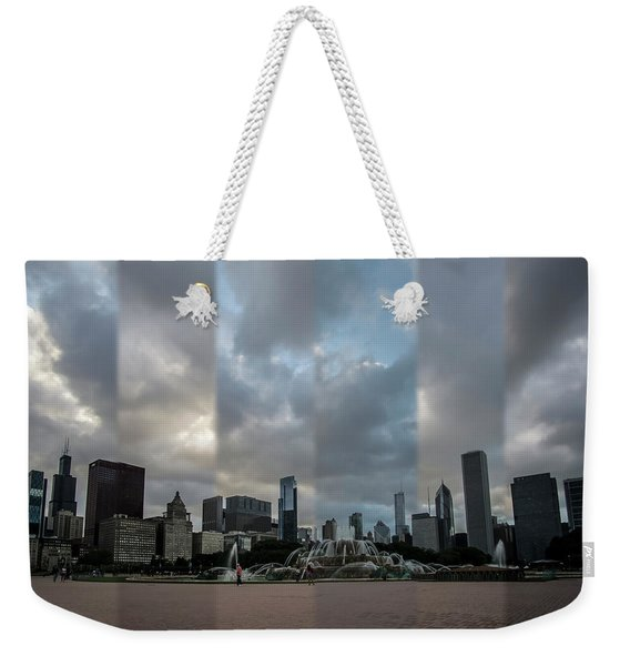 Chicago's Buckingham Fountain Time Slice Photo Weekender Tote Bag