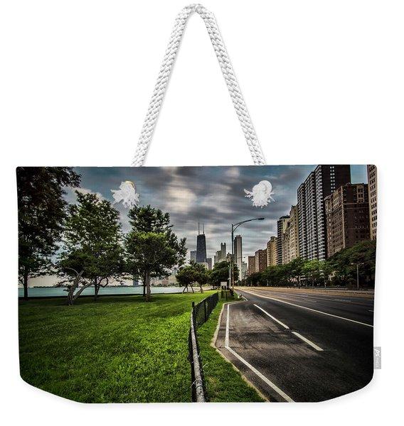 Chicago's Lake Shore Drive Weekender Tote Bag