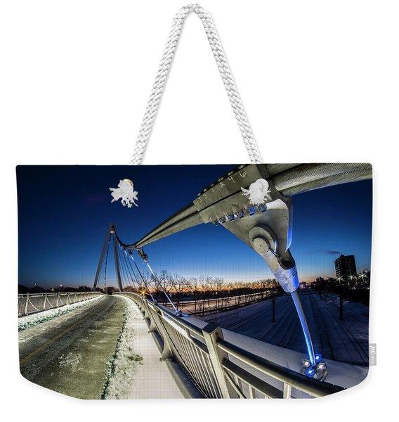 Chicago's New 35th Street Ped Bridge At Dawn Weekender Tote Bag