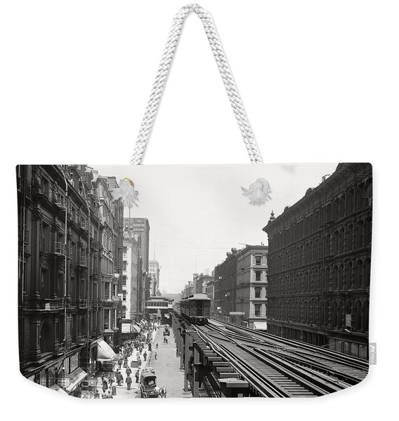 Chicago's Wabash Avenue  1900 Weekender Tote Bag