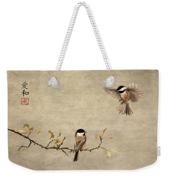 Chickadee Encounter II Weekender Tote Bag