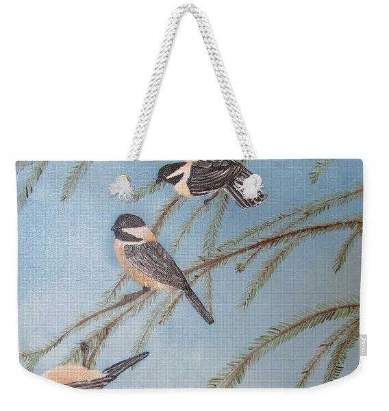 Chickadee Party Weekender Tote Bag