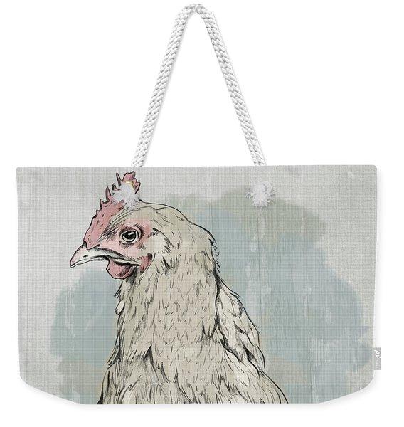 Chicken Portrait-farm Animals Weekender Tote Bag