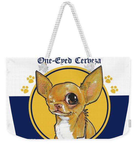 Chihuahua One-eyed Cerveza Weekender Tote Bag