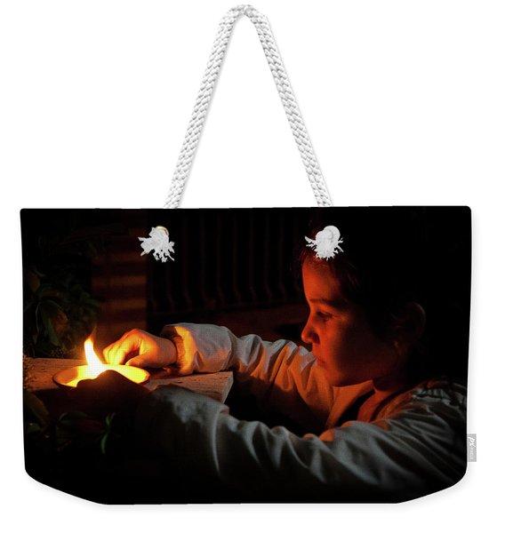 Child In The Night Weekender Tote Bag