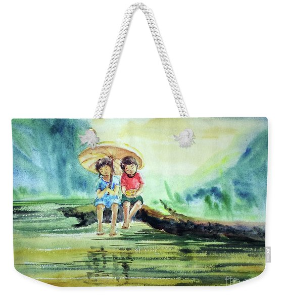 Childhood Joys Weekender Tote Bag