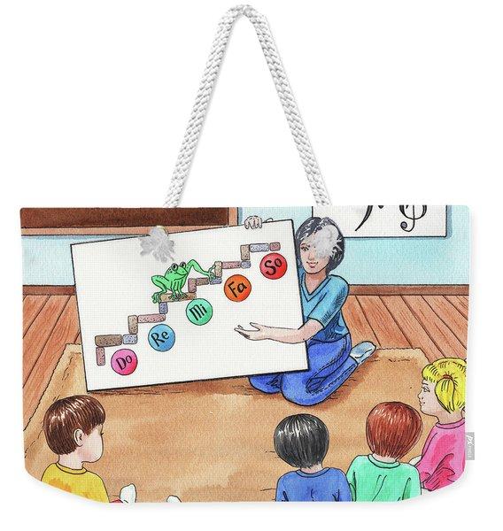 Children Book Illustration Jumping Frog Weekender Tote Bag
