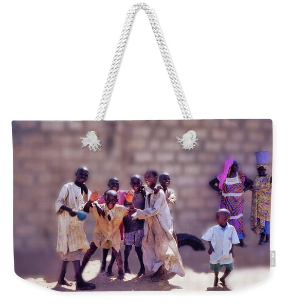 Weekender Tote Bag featuring the photograph Children Of Kayar  by Wayne King