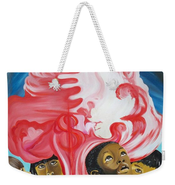 All God's Children.             Children Of The Nuclear Age Weekender Tote Bag
