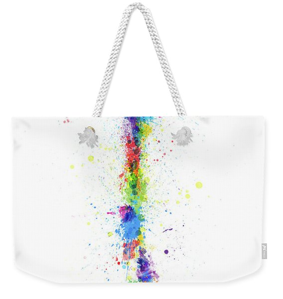 Chile Paint Splashes Map Weekender Tote Bag