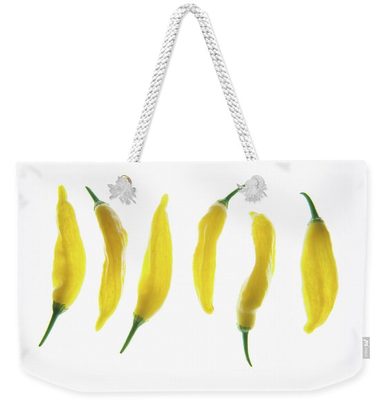 Chillies Lined Up II Weekender Tote Bag