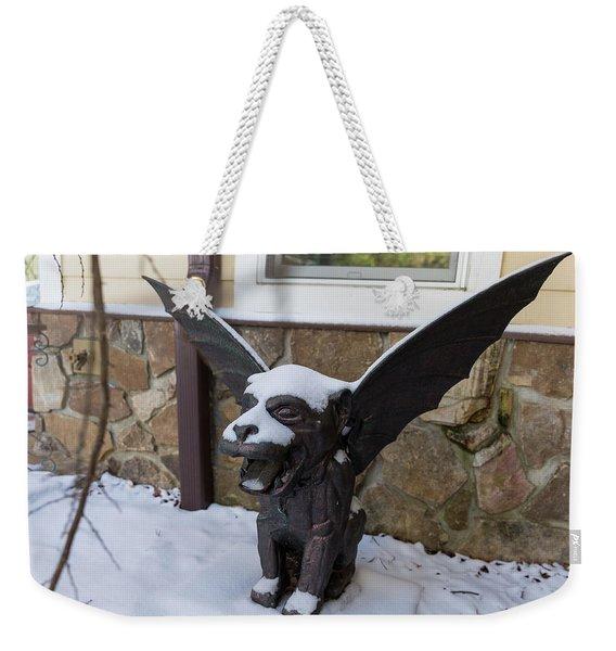 Chimera In The Snow Weekender Tote Bag