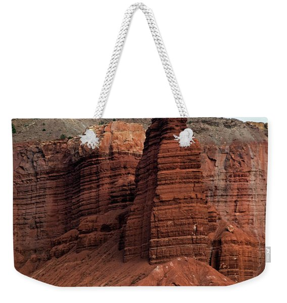 Chimney Rock In Capital Reef Weekender Tote Bag