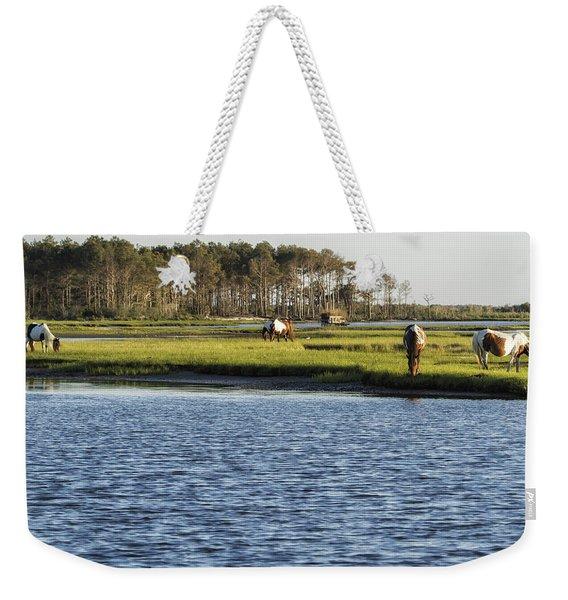 Chincoteague Ponies On Assateague Island Weekender Tote Bag
