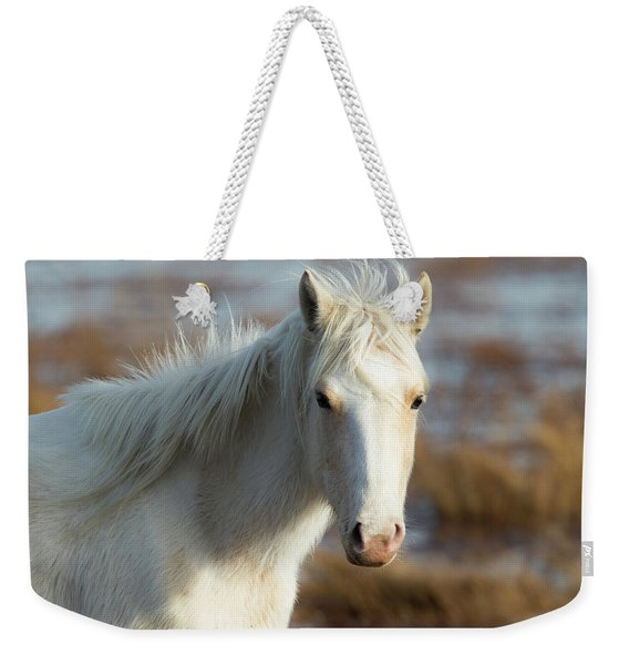 Chincoteague White Pony Weekender Tote Bag