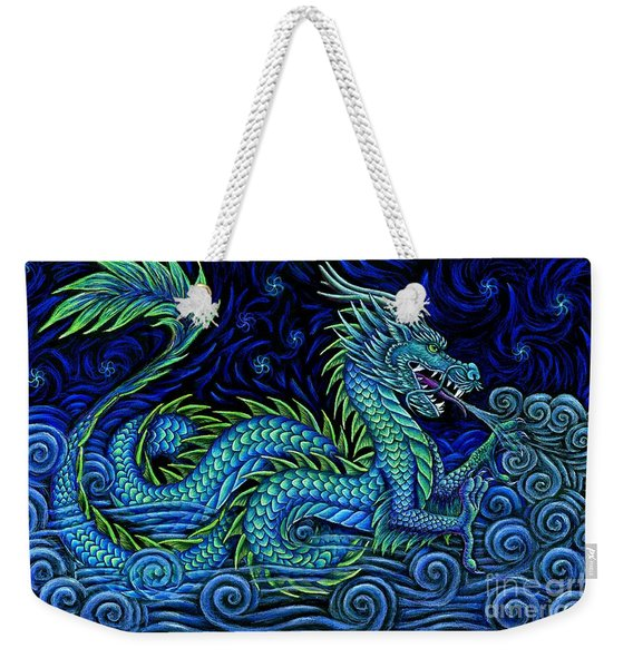 Chinese Azure Dragon Weekender Tote Bag