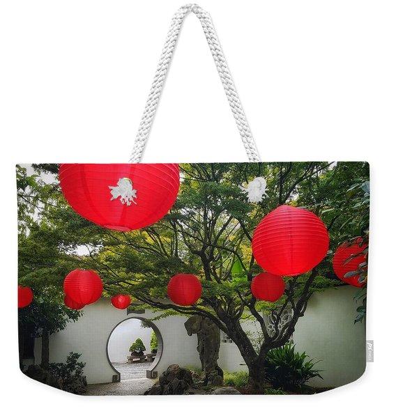 Chinese Tea Garden In Portland, Oregon Weekender Tote Bag