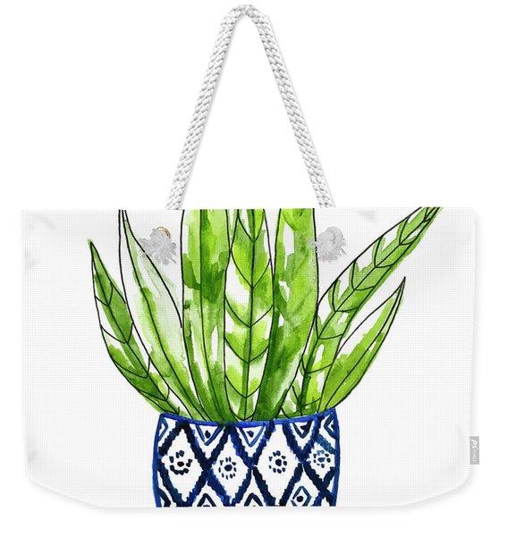 Chinoiserie Cactus No2 Weekender Tote Bag