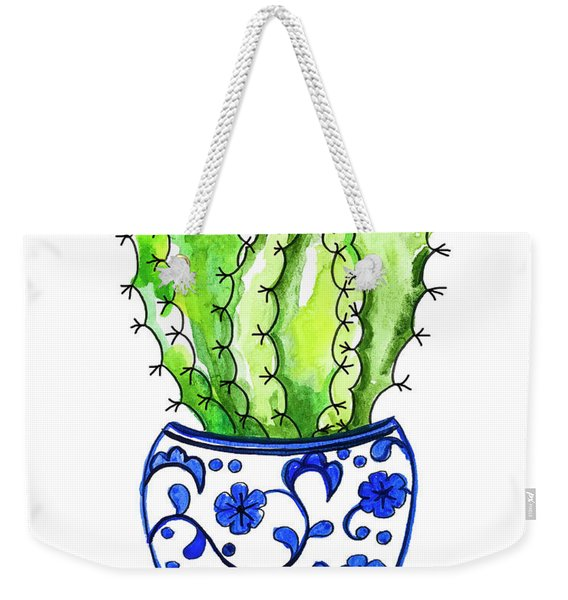 Chinoiserie Cactus No3 Weekender Tote Bag