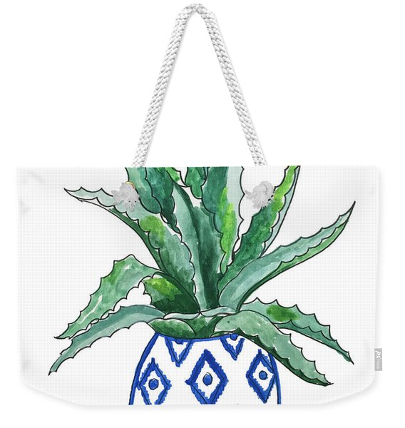 Chinoiserie Cactus Weekender Tote Bag