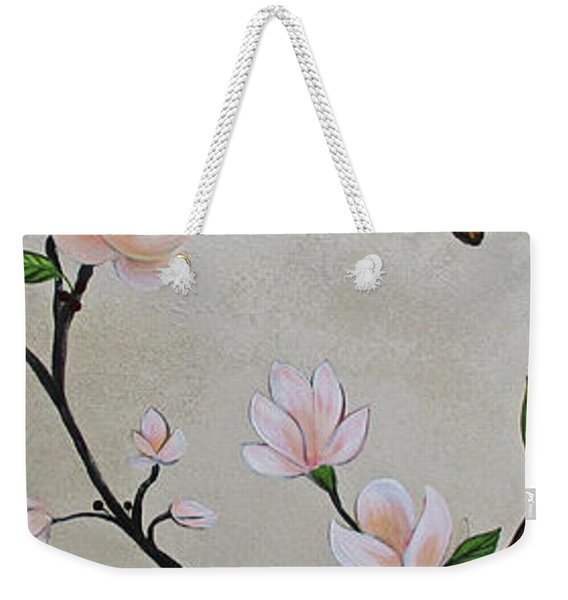 Chinoiserie - Magnolias And Birds #3 Weekender Tote Bag