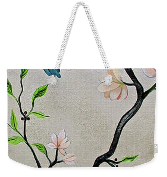 Chinoiserie - Magnolias And Birds #5 Weekender Tote Bag