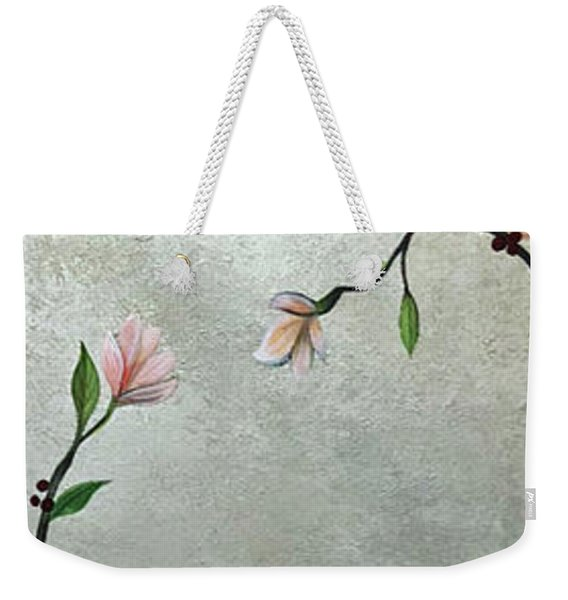 Chinoiserie - Magnolias And Birds Weekender Tote Bag