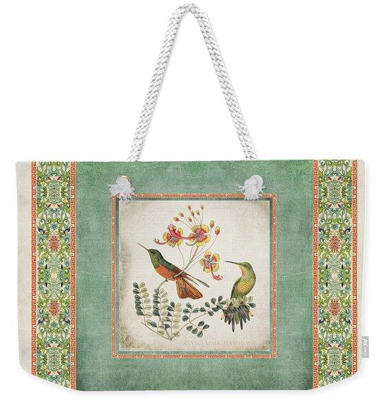 Chinoiserie Vintage Hummingbirds N Flowers 1 Weekender Tote Bag