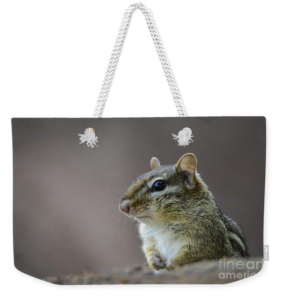 Chipmunk Profile Weekender Tote Bag
