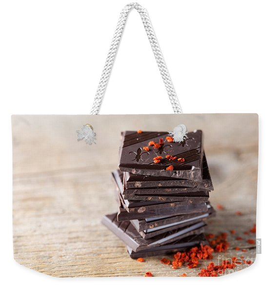 Chocolate And Chili Weekender Tote Bag