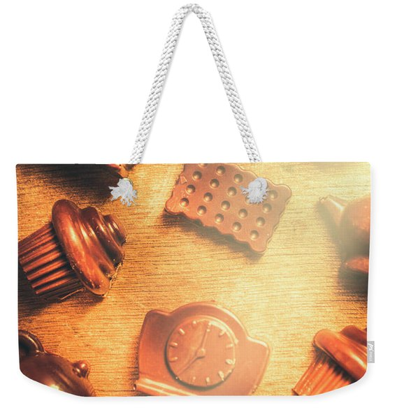 Chocolate Cafe Background Weekender Tote Bag