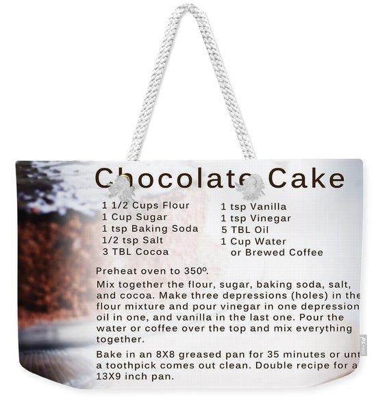 Chocolate Cake Recipe Weekender Tote Bag