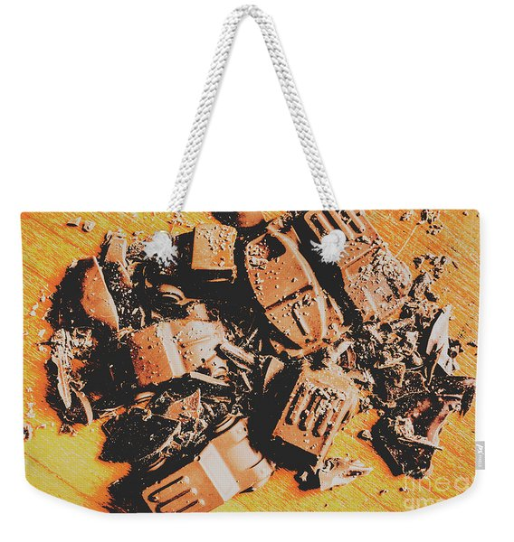Chocolate Demolition Derby Weekender Tote Bag
