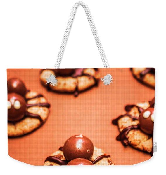 Chocolate Peanut Butter Spider Cookies Weekender Tote Bag