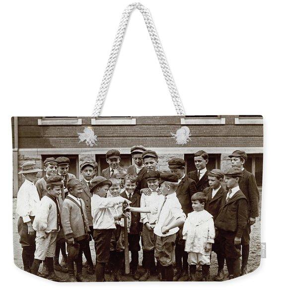 Choosing Baseball Teams Weekender Tote Bag