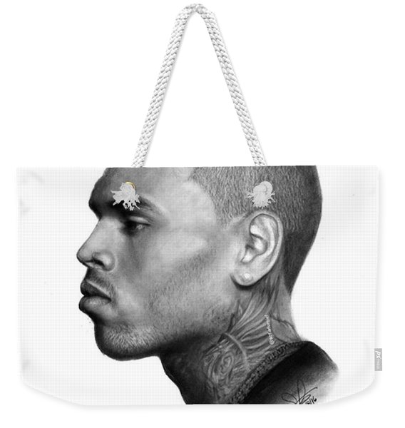 Chris Brown Drawing By Sofia Furniel Weekender Tote Bag