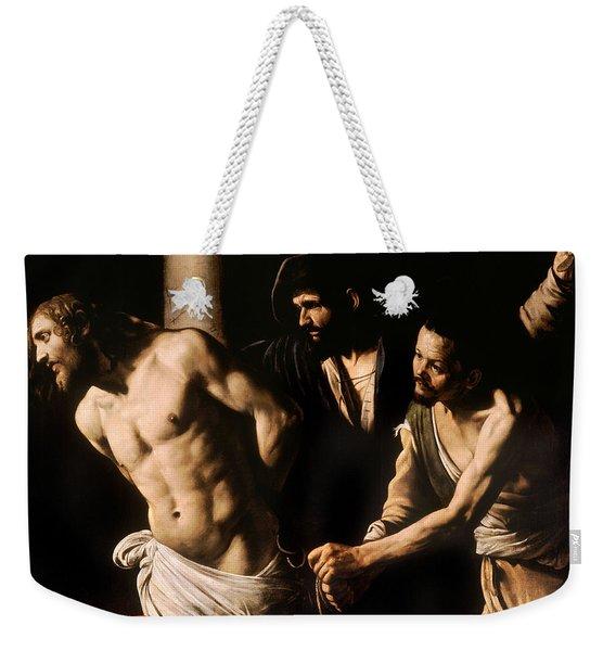 Christ At The Column Weekender Tote Bag