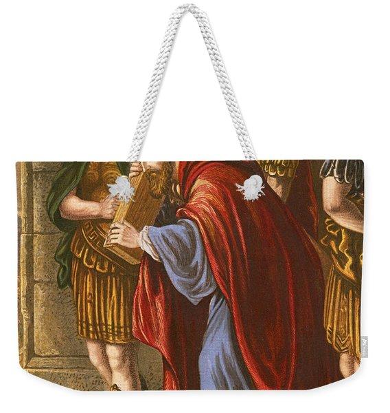 Christ Bearing The Cross Weekender Tote Bag