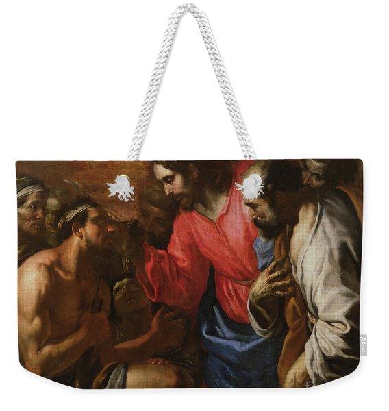 Christ Healing The Blind Man Of Jericho Weekender Tote Bag