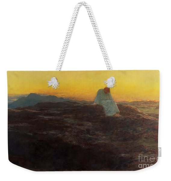 Christ In The Wilderness Weekender Tote Bag