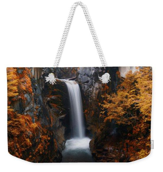 Christine Falls - Digital Oil Weekender Tote Bag