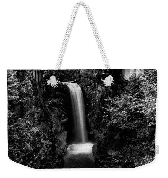 Christine Falls - Mount Rainer National Park - Bw Weekender Tote Bag