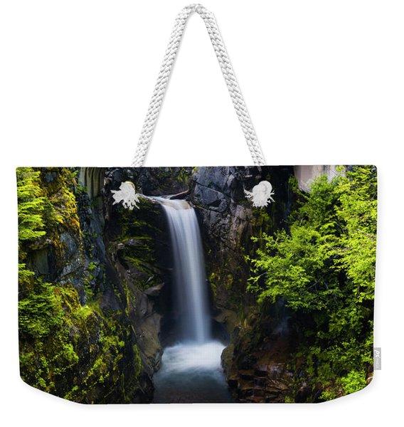 Christine Falls - Mount Rainer National Park Weekender Tote Bag