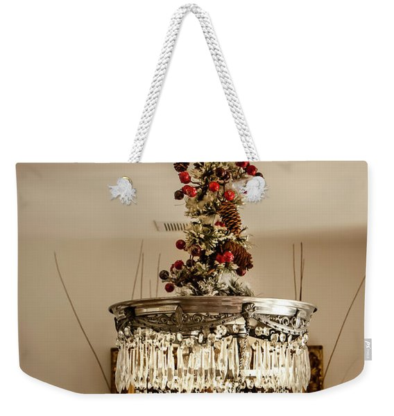 Christmas Antique Chandelier Weekender Tote Bag