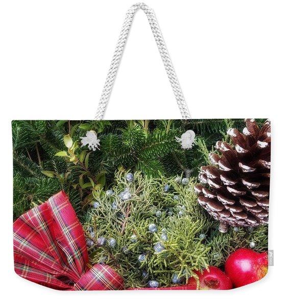 Christmas Arrangement Weekender Tote Bag
